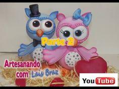 ▶ Corujinha de E.v.a 3D Passo a Passo Parte2 - YouTube