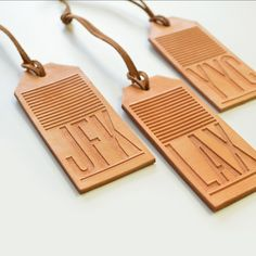 Whether you are planning your dream trip or are just representing your city, do it in style with our beautiful etched leather tags. Each leather tag is engraved