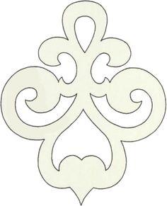 Scroll saw pattern ornament Stencil Patterns, Stencil Designs, Applique Patterns, Cross Patterns, Wood Patterns, Stencils, Motif Art Deco, Scroll Saw Patterns Free, Free Pattern