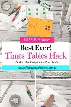 Best Times Tables Hack Ever! {FREEBIE} Our hands-on times tables printable number games will help beat memorization boredom and make Teaching Multiplication Strategies Fun & Engaging for your kids! Get FREEBIE on our website Learning Multiplication, Multiplication Strategies, Guided Maths, Teaching Strategies, Teaching Resources, Teacher Freebies, Classroom Freebies, Teaching Boys, Teaching Tables