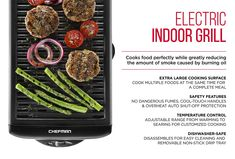 Chefman Electric Smokeless Indoor Grill w/ Non-Stick Cooking Surface & Adjustable Temperature Knob from Warm to Sear for Customized BBQ Grilling, Dishwasher Safe Removable Water Tray, Black Grilling Recipes, Fish Recipes, Grilled Veggies, Grilled Food, Fish Taco Toppings, Low Calorie Sauces, Best Fish Taco Recipe, Mango Salsa Recipes, Recipes