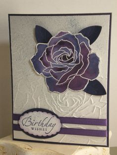 """By Louise Brown. Dry emboss white mat in SU """"Manhattan Flower"""" folder. Rose Outline, Wedding Shower Cards, Painting Lessons, Pretty Cards, Paper Cards, Flower Cards, Greeting Cards Handmade, Scrapbook Cards, Craft Fairs"""