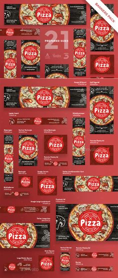 Pizza Banner Pack - #Banners & Ads #Web Elements