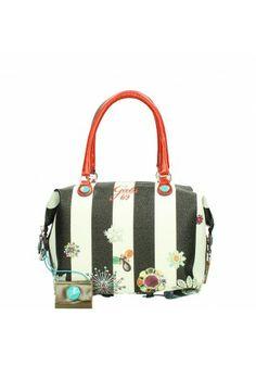 Gabs handbag Studio Righe Fiori