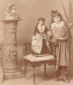 "cabinet card of Lucia Zarate (born 2 January 1864 in Mexico & died 15 January 1890) ~  She was the first person to have been identified with Majewski Osteodysplastic, Primordial Dwarfism Type II. She was entered into the Guinness World Records as the ""lightest recorded adult,"" weighing 4.7 pounds (2.1 kg) at the age of 17. According to a 1894 article in Strand Magazine, Zarate achieved her full growth by the age of one year. She stood 20 inches tall. ∞"