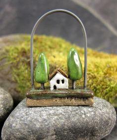 Swinging PlotStoneware Pendant/Ornament by elukka on Etsy