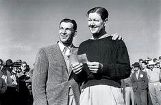 Ben Hogan and Byron Nelson (1942) Gene Sarazen, Famous Golfers, Byron Nelson, Masters Tournament, Golf Pictures, Jack Nicklaus, Golf Player, Golf Lessons, Birthday Photos