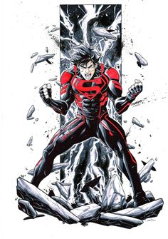 Superboy by Iban Coello Comic Art