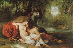 Francesco Hayez, RINALDO E ARMIDA, 1814, olio su tela, cm. 198 x 295, Gallerie dell'Accademia, Venezia