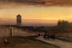 Twilight, 1875, George Inness. American (1825 - 1894)