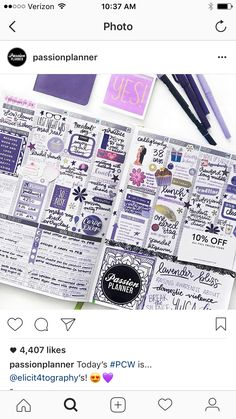 Love this example from Passion Planner. Perfect for organizing your life and setting goals!