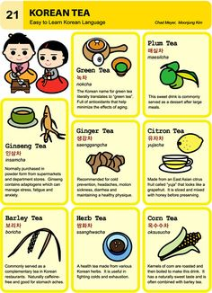 21 Learn Korean Hangul Korean Tea