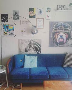 blue sofa 50s #oddagata