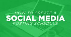 How To Create A Social Media Posting Schedule | The Creative Pastor {kf}
