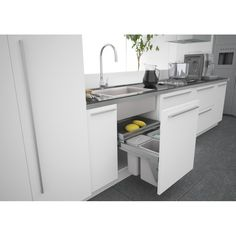Spectacular Tips in Selecting The Right Kitchen Sink Ideas. Ravishing Tips in Selecting The Right Kitchen Sink Ideas. Under Sink Bin, Under Sink Drawer, Under Kitchen Sinks, Kitchen Sink Faucets, Kitchen Nook, Kitchen Living, New Kitchen, Kitchen Storage, Kitchen Decor