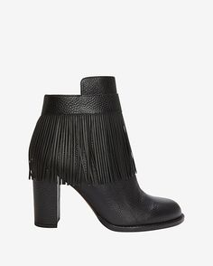 #INTERMIX #SWEEPSTAKES Valentino Fringe Bootie: A wearable day to night fringe ankle boot statement. Zipper closure at side. 3 3/4 chunky heel. Leather sole. In black. Made in ...