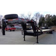 New 8.5 x 40' Gooseneck Flat Bed Dozer Equipment Trailer   8.5x40   $10,800.00