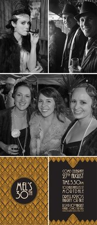 ROARING 20s PARTY #photobooth pattern idea
