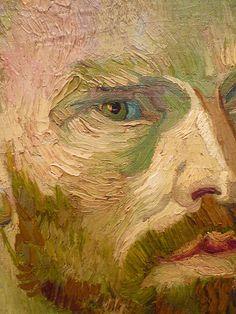 Vincent van Gogh : Self-Portrait Dedicated to Paul Gauguin, 1888 (detail)
