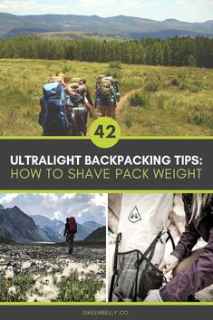 42 Ultralight Backpacking Tips: How to Shave Pack Weight - A massive list of ultralight backpacking tips and tricks to help lighten your load on the trail for - Backpacking Packing List, Backpacking For Beginners, Backpacking Trails, Camping Guide, Camping Hacks, Hiking Essentials, Surfing Pictures, Thru Hiking, Ultralight Backpacking