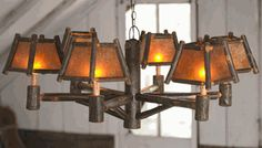 Old Hickory Rocky Mountain Chandelier - 6 Light