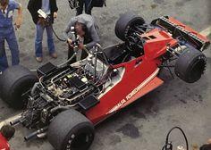 Brabham-Alfa Romeo BT46. Great Gordan Murray chassis, big, heavy, thirsty engine