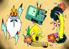 crimpity: philwallart: A bunch of tattoo flash based on cartoons and animated films that I've done to-date. If you like my stuff please 'follow, like, re-blog'.www.philwallart.comwww.facebook.com/dreamsandmonsters Fuck. The top spread.