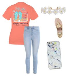 """""""This Southern outfit features Simply Southern,Jack Rogers, Hollister."""" by ncngilbert on Polyvore featuring Hollister Co., Humble Chic and Jack Rogers"""