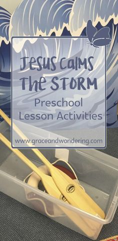 Jesus Calms the storm play based activities Preschool Bible Lessons, Bible Lessons For Kids, Bible Activities, Kids Bible, Toddler Sunday School, Sunday School Lessons, Jesus Walk On Water, Jesus Calms The Storm, Weather Lessons