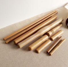 10pcs/set 100% Bamboo Body Massager Pole Massage Stick Water-proof Wood Craft