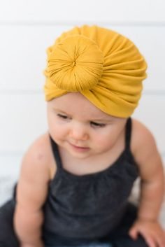 b0b02d1c24d Baby Top Knot Turban Baby Girl Fashion