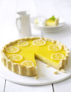 Lemon tart   Try our perfect lemon tart, decorated with candied lemon. Serve with a scoop of vanilla ice cream to cut through the tartness.