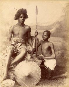 'Soldats soudanais', by Félix Bonfils [?]