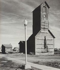 Wright Morris      Light Pole and Grain Elevator, Eastern Nebraska      1947