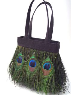 Pea Feather Bag Try Using Green Suede Fringe Then Feathers On Top Purse