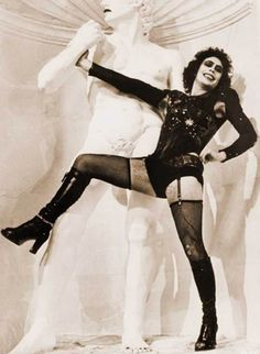 Tim Curry in The Rocky Horror Picture Show directed by Jim Sharman, 1975 Rocky Horror Show, Tim Curry Rocky Horror, The Rocky Horror Picture Show, Tv Movie, Kino Film, Jolie Photo, Actors, Show Photos, Glam Rock