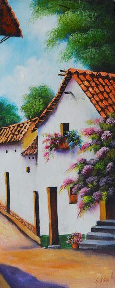landscapes-peasants-artistic-painting-al-oil Margarita Jimenez Classic Paintings, Great Paintings, Beautiful Paintings, Landscape Paintings, Black Art Pictures, Pictures To Paint, Kinkade Paintings, Beautiful Drawings, Art Classroom