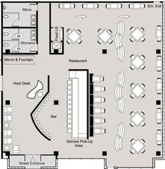 restaurant floor plan: