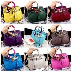 Ready Stock New Colours Hermes Birkin Ostrich ghw with long strap  B25x17x12cm (380rb)  940-3NT Quality Semi Premium 1 1 Have 9 colours (warna  sesuai ... 8f03d2f5a4