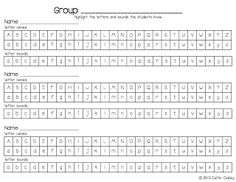 Keep a letter names/sounds recording sheet for each reading group. *Freebie*