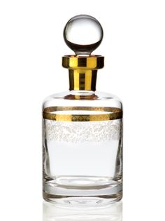 Bridal Gold Viski Şişesi / Whiskey Decanter #bernardo #tabledesign #glass #gold #scotch