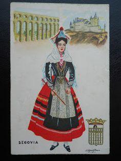 Postcards / Costumes - Spain /Segovia