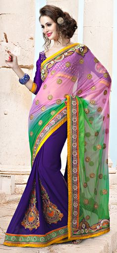 Light Pink And Purple Color Net Viscose Fabrics Party Wear Saree    Item Code: SACH8012A    PRICE:-  7,515 /- INR   Style: Traditional Saree occasion: Party, Wedding, Festival fabric: Net, Viscose color: Purple, Pink Catalog No.: 1147 Work: N/A     SHOP THIS SAREE FROM HERE http://www.vivaahsurat.com/sarees/light-pink-and-purple-color-net-viscose-fabrics-party-wear-saree-sach8012a