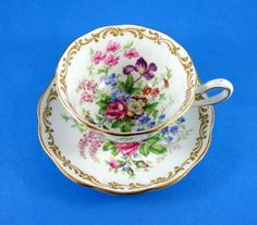 Bright Floral Royal Albert Nosegay Tea Cup and Saucer Set | eBay