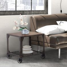 Furniture of America Karina Industrial Style End Table - Free Shipping Today - Overstock.com - 17071955 - Mobile