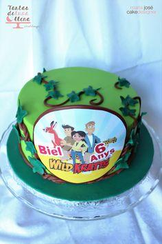 Tarta Hermanos Kratts - Wild Kratts Cake www.tartasdelunallena.blogspot.com