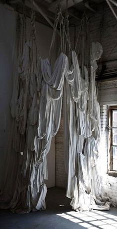Billowing Fabric Drapes – The Lane Texture Words, Wood Texture, Set Design Theatre, Stage Design, Fabric Installation, Art Installations, Creative Closets, Fabric Structure, My Art Studio