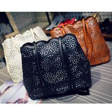 Hollow Out Women Messenger Bags New European and American Style Lady Handbags Fashion Leather Cross body Bags For Women(China (Mainland))