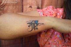 Mommy daddy Customized sanskrit tattoo done by suresh machu from machu tattoo studio bangalore india
