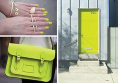 fluro yellow items